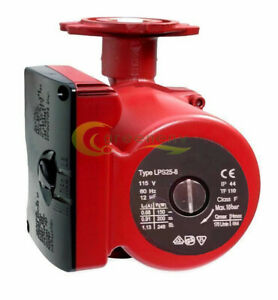 34gpm 3 Speed Circulating Pump Use W outdoor Furnaces Hot Water Heat solar 115v