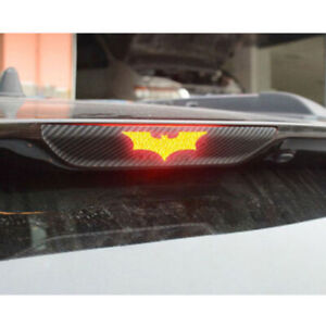 3pcs Diy 3d Batman Carbon Fiber Sticker Brake Tail Light Decal Car Accessories