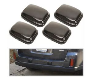 4x Universal Bumper Protector Guard Pad Kit Car Front Back Wall Rear Thick Black
