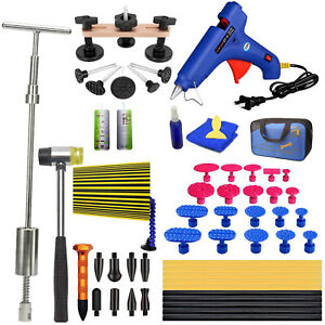 Auto Body Paintless Dent Repair Tools With T bar Slide Hammer Dent Puller Kits