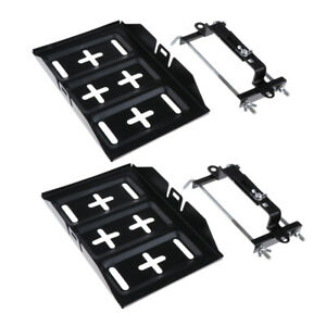 2x Metal Car Storage Battery Holder Stabilizer Tray Hold Down Clamp Kit