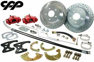 1970 78 Chevy Camaro Rs Ss Z 28 Rear Disc Kit 12 Rotor Big Brake Red Calipers
