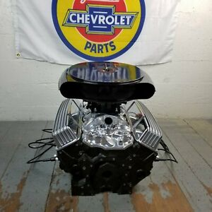 Sb Chevy Black Caddy Olds Ac Tall Valve Covers Engine Kit Small Block 283 350 V8