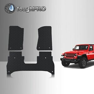 Toughpro Floor Mats Black For Jeep Gladiator All Weather Custom Fit 2020 2021