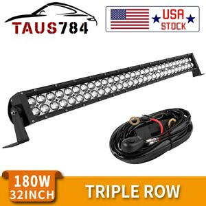 32inch 420w Led Work Light Bar Combo Driving Offroad Bumper Lamp Truck Pk 30 34