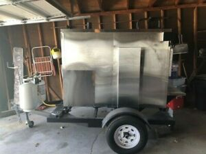 Used Rotisserie Smoker And Trailer With New Generator