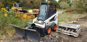 2005 Bobcat 463 Skid Steer Loader With Plow Only 631 Hours