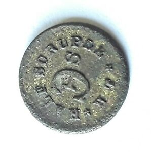 Antique Half Scruple Token Scale Weight Apothecary Chemist Pharmacy