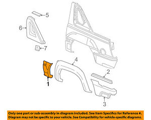 Chevrolet Gm Oem 2002 Avalanche 1500 Exterior Side Molding Right 15086334