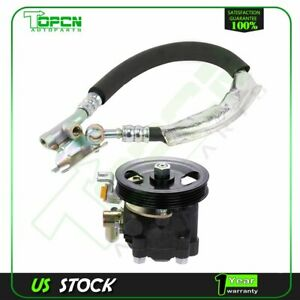 New Power Steering Pump With Pulley Pressure Line For 00 01 Infiniti I30 3 0l V6