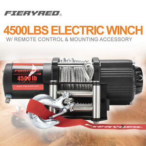 4500lbs Electric Winch Steel Cable Recovery For Atv Ute Offroad W Remote Control