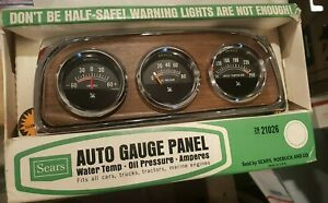 Vintage Sears Roebuck Auto Gauge Panel Nos Rat Rod Hot Rod Unused 21026
