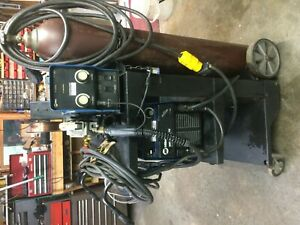 Miller Xmt 304 Mig Welder Complete Set Up With Cart
