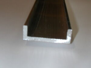 Aluminum Architectural Channel 125 X 0 5 X 1 5 X 0 5 X 48 In 6063 Uaac
