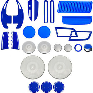 25pcs Interior Accessories Decoration Cover Trim Full Set For Ford Mustang 2015