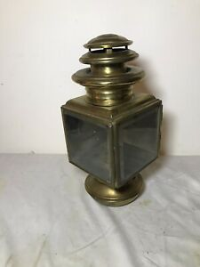 Brass Cowl Light Vintage Brass Era Car Westchester Square 6 Nickel Cut Glass