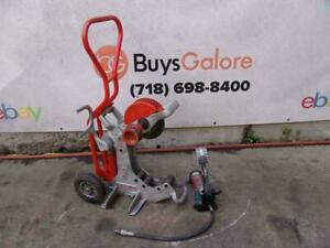 Ridgid 258 Hydraulic Pipe Cutter With Cart 2 1 2 8 Inch Great Shape