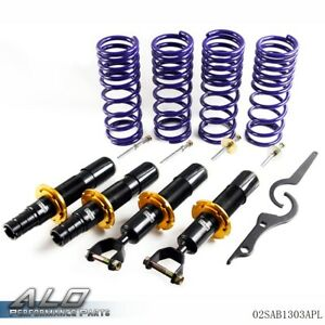 For 96 00 Honda Civic Ek Coilover Adjustable Suspension Lowering Shock Kit