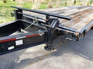1996 Norris Used 28 Ft Deckover Equipment Trailer W Title