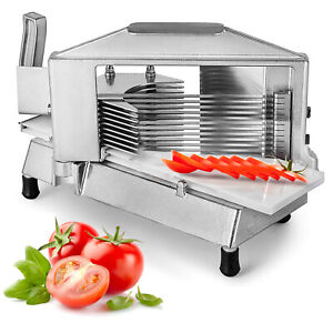 Commercial Fruit Tomato Slicer 1 4 cutting Machine Stainless Steel Blade Kitchen