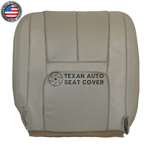 2000 Cadillac Escalade Driver Bottom Perforated Synthetic Leather Seat Cover Tan