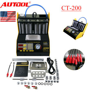 Ct200 Ultrasonic Injector Cleaner Tester For Car Fuel Petrol Motor 6 cylinde