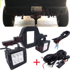 Fit Dodge Ram 1500 2500 3500 Backup Rear Tow Hitch 24w Led Light Bracket wiring