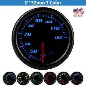 Universal 52mm 7color Led Digital Water Coolant Temperature Temp Gauge Meter New