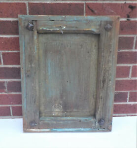 Spanish Colonial Antique Wooden Door Panel Old Mexico 22 1 4 X 17 3 8 X 1 5 8 G
