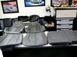 1993 1996 Chevy Camaro Front And Rear Seat Covers In Graphite Gray