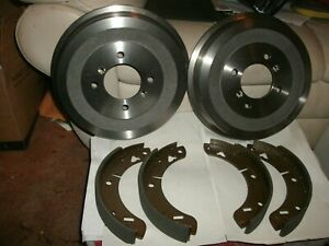 Mgb Brake Shoes Drums rear Set 4 Shoes 2 Drums New 68 80 mgb gt 66 80