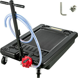 Low Profile Oil Drain Pan Portable 17 Gallon For Truck Car With Pump 8 Hose