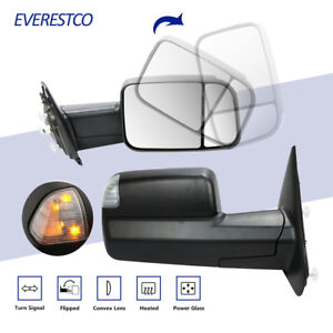 Power Heated Towing Mirrors W Led Signal For 03 09 Dodge Ram 2500 3500 Truck