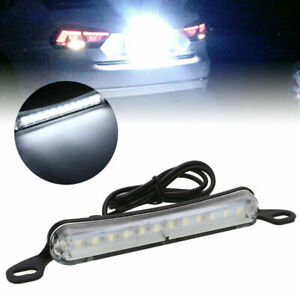 Xenon White 12 Smd Bolt On Led License Plate Light Lamp For Car Universal