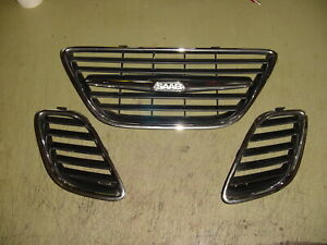 02 03 04 05 Saab 9 5 Left Right Center Front Upper Outer Grilles Grill
