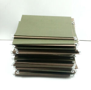 Lot Of 100 Green Letter Size Hanging Folders With Tabs Slightly Used