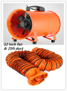 12 Extractor Fan Blower Portable 8m Duct Hose Fume Utility Ventilation Exhaust