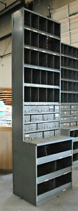 Huge Wall Unit Parts Bin 10 Feet Tall Urban Industrial Metal Book Tool Shelving