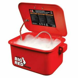 Torin Big Red Steel Cabinet Parts Washer With 110v Electric Pump 3 5 Gallon Cap