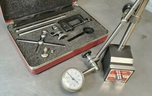 Starrett No 196 Dial Indicator Set With A Starrett No 657aa Magnetic Base