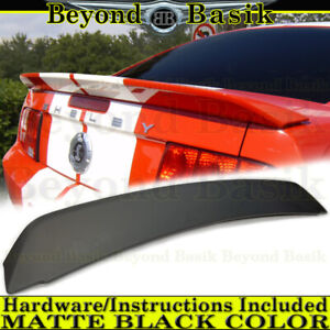 2005 2009 Ford Mustang Shelby Gt500 Matte Black Factory Style Spoiler Wing