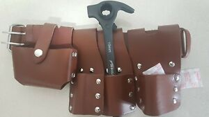 Scaffold Brown Leather Tool Belt 4in1 Tools Hammer Ratchet Podger 19 22 Mm