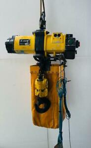 Endo Ehl 2tw Pneumatic Air Chain Hoist 2 Tons Capacity free Shipping