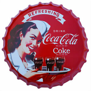 Coca Cola Girl Drink Coke Framed Mirror Sign
