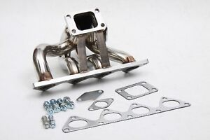 Acura Honda B series B16 B18 Motor T3 Exhaust Turbo Manifold Stainless Steel Kit