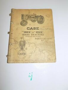 Case 300b 400b Tractor Parts Catalog Vintage R i 377 5 58 Sn 6095009