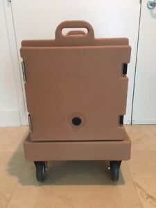Cambro 300mpc131 Food Carrier Rolling Front Load Camcarrier W Dolly Pans