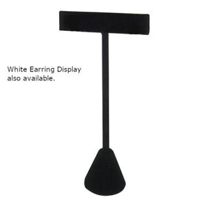 Earring Display In White Leatherette 5 75 Inches