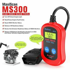 Autel Maxiscan Ms300 Obd2 Scanner Check Engine Fault Code Reader Diagnostic Tool
