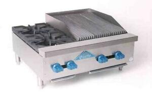 Comstock castle 30 2 burner Gas Range 18 Charbroiler New Model Fhp30 1 5rb